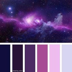 New house decor themes color schemes purple Ideas Theme Galaxy, Galaxy Decor, Galaxy Colors, Purple Color Palettes, Colour Pallette, Colour Schemes, Color Combos, Shades Of Violet, Theme Color