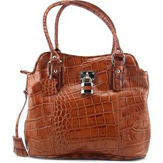 Madi Claire Laura Women Brown Shoulder Bag. The style name / style number is Laura / 9598-COG. Color: Cognac. Material: Leather. Lining: Lined. Dimensions: 4.5 D in x 11 H in x 12.5 L in.