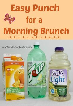 breakfast drinks Coffee Brunch Recipes is part of Breakfast Drinks Recipes Allrecipes Com - The Make Your Own Zone Easy Punch Recipe for a Morning Brunch Shower The Make Your Own Zone Refreshing Drinks, Summer Drinks, Fun Drinks, Drinks Alcohol, Alcohol Recipes, Party Drinks, Mixed Drinks, Birthday Brunch, Brunch Party