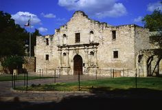 The Alamo: located in San Antonio, the site of a fierce battle in the Texan War of Independence