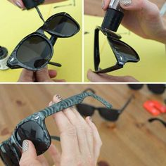 4cf04f47791 DIY Magnetic Sunglasses - The Brit   Co. Blog Shows How to Make Fashionable  Eyewear