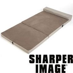 The Sharper Image Fold & Go Memory Foam Slumber Pad (Camping Hacks Cold Weather) Tent Camping Beds, 8 Person Tent, Memory Foam Mattress Topper, Mattress Pad, Camping Hacks, Camping Guide, Camping Gear, Sleep Well, Image