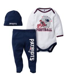 Take a look at this New England Patriots Footie Pants Set today! Baby Fan 80b5834cb