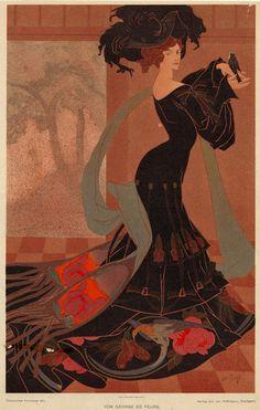 Image Title:  Color study.  Georges de Feure, 1868-1943.  Published Date: 1901  (via NYPL)