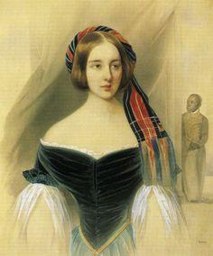 2- Catherine II confirme définitivement les Gontcharoff dans la noblesse héréditaire en élevant le père de Nathalie, Nicolas Afanassiévitch (1787—1861) à la dignité de chevalier de Saint-Vladimir (1789). La naissance de sa mère Nathalie Ivanovna Zagryajskaïa (1785-1848),est entourée de mystère: elle serait  la fille illégitime d'Ivan Alexandrovitch Zagryajsky (remontant à une antique famille princière tatare et beau-frère de la comtesse Nathalie Kirillovna Razoumovsky