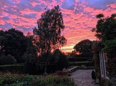 A stunning sunset at Hilltop Country House