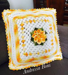 - Her Crochet Crochet Flower Tutorial, Crochet Flower Patterns, Crochet Stitches Patterns, Crochet Designs, Crochet Doilies, Crochet Flowers, Crochet Cushion Cover, Crochet Cushions, Crochet Pillow