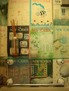 New Yorker Mag Covers as Wallpaper for closet?