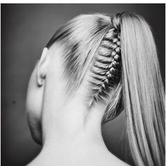Exquisite Ponytail by @locksbyj #cincinnatistylist Fresh design...Beautiful hair art #hotonbeauty
