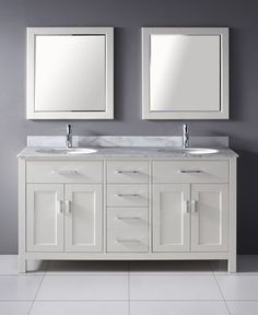 63 inches. Includes counter, backsplash and two mirrors.