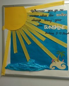 Summer Bulletin Boards For Daycare Discover August Relief Society bulletin board August Bulletin Boards, Christian Bulletin Boards, Summer Bulletin Boards, Preschool Bulletin Boards, Classroom Board, Classroom Bulletin Boards, Classroom Displays, Classroom Themes, Preschool Door