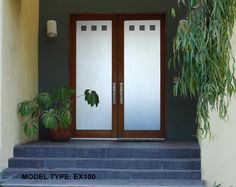 A gorgeous glass double doorway designed perfectly for your home. Customize your perfect entry way to your dream home with ETO Doors.