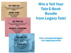 Win a Tell Your Tale E-Book Bundle from Legacy Tale
