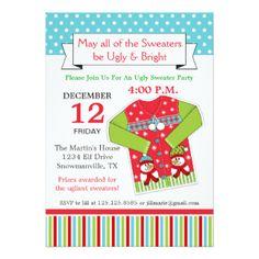Ugly Christmas Sweater Invitation