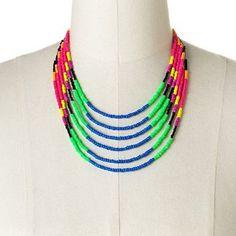 So® silver tone bead multistrand necklace