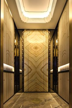 The Ultimate Design Experience Stair Elevator, Elevator Design, Elevator Lobby, Arte Art Deco, Art Deco Home, Lift Design, Cabin Design, Luxury Homes Interior, Elevator