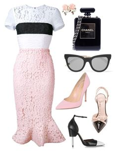 """Pink & Black Love!!!"" by la-harrell-styling-co on Polyvore featuring Alex Perry, Kate Spade, Gianvito Rossi, Givenchy, Chanel, Le Specs, women's clothing, women, female and woman"