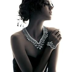 Freja Beha Erichsen Shines in Harry Winston's Holiday 2012 Campaign by... ❤ liked on Polyvore