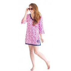 Pink Aztec Tunic Top