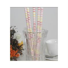 Promotional Printed Paper Drinking Straws
