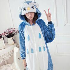 Wedtrend Wholesale Unicorn Owl Bee Unisex Flannel Hoodie Pajamas Costume Nightgown Animal Onesies Sleepwear For Adults Women Men