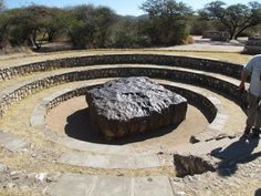 Hoba Meteorite near Grootfontein, Namibia - The largest found in the World.