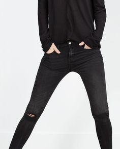 SUPERSKINNY MID-RISE JEANS-Skinny-Jeans-WOMAN | ZARA United States