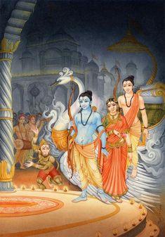 Sita Ram Laxsman and Hanuman Ancient Indian Paintings, Rama Lord, Lord Rama Images, Indian Folk Art, Indian Artwork, Pagan Gods, Lord Vishnu Wallpapers, Hanuman, Radhe Krishna