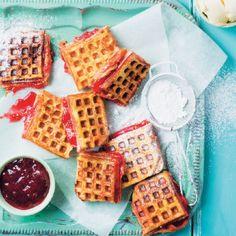 PB&j Waffled French Toast #Waffles #Breakfast #Recipe #SouthAfrica