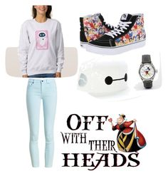 """Disney outfit  winter wear"" by isabellmurillo ❤ liked on Polyvore featuring Disney, Barbour and Vans"