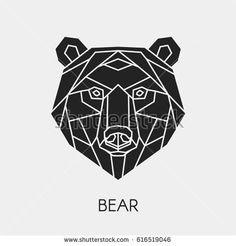 Vector Abstract Polygon Head Bear Geometric Stock Vector 615518450 ...
