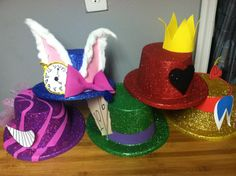 Alice In Wonderland Party hats Idea.... For A Alice In Wonderland Birthday Party....