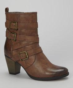 Another great find on #zulily! Dark Brown Sandra Buckle Boot by C Label #zulilyfinds