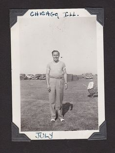 Benny, Chicago, ILL. 1940