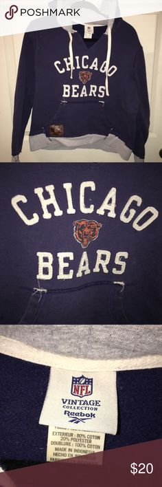 NFL Vintage Chicago Bears Hoodie Bear down, Chicago Bears! Survive the winter in this NFL Vintage hoodie and root for your team (regardless of their record!). Lightly worn. NFL Vintage Tops Sweatshirts & Hoodies