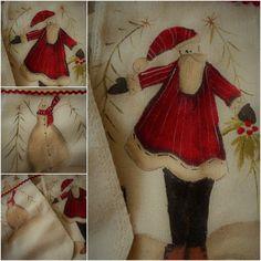 theodora cleave: Barb Smith designs Santa & his friend the Snowman Button Decorations, Fabric Painting, Christmas Stuff, Snowman, Santa, Friends, Design, Painting On Fabric, Christmas Things