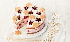 Sternenzauber-Torte Rezepte: Diese Käse-Sahne-Torte wird mit Kirsch Grütze und Gewürzen verfeinert. Mit der Backmischung gelingt sie garantiert. | Dr. Oetker Mary Recipe, Easy Baking Recipes, Pie Cake, Cheesecakes, Cake Cookies, Oreo, Camembert Cheese, Goodies, Food And Drink