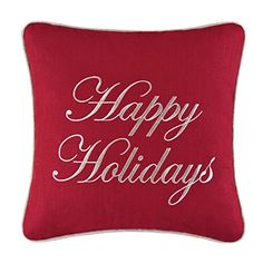 16x16 Embroidery Pillow Happy Holidays >>> This is an Amazon Affiliate link. Click on the image for additional details.