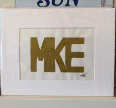 Gold Milwaukee print, framed prints