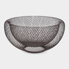 Mesh Bowl  Ideal for serving fruit or as a decorative object, this airy mesh bowl has dimensional double-walled construction. Made of powder...