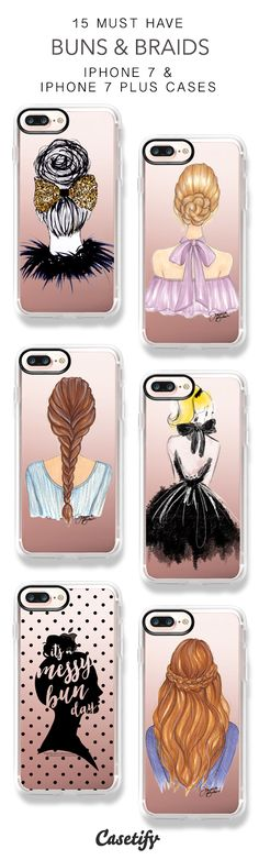 15 Must Have Buns & Braids iPhone 7 Cases and iPhone 7 Plus Cases. More Hair iPhone case here > https://www.casetify.com/collections/top_100_designs#/?vc=v03HftWeJL