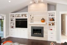 offset fireplace and tv - Google Search