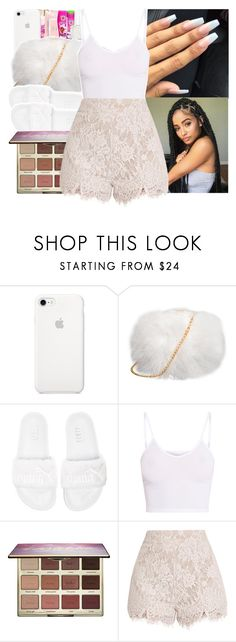 """fan fest"" by princessjolie ❤ liked on Polyvore featuring Puma, BasicGrey and tarte"