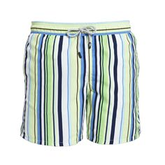 Tom & Teddy Men's Swim Trunks Blue & Green Stripe