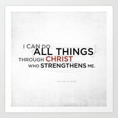 Philippians+4:13+II+Art+Print+by+Dallas+Drotz+-+$14.94