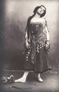 Russian prima ballerina, Anna Pavlova, of the late 19th and the early 20th centuries.