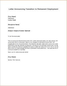 Vacation or leave of absence approval letter download at http letter announcing transition to permanent employment download at httpwriteletter2 thecheapjerseys Image collections