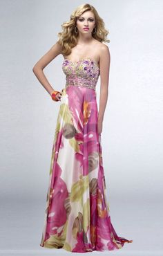 Evening dress | ... if your wardrobe still lacks a print evening dress you are out of date