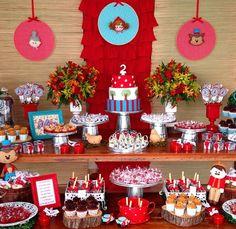 Festa personalizada com tema de Chapeuzinho Vermelho - www.clakeka.blogspot.com