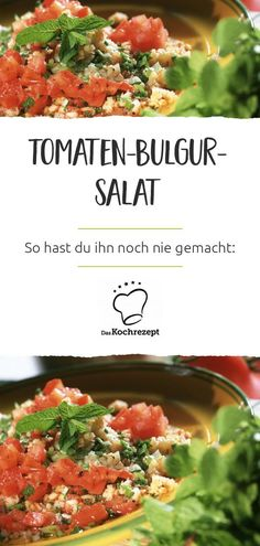 Tomaten-Bulgur-Salat – so hast du ihn noch nie gemacht und er liegt garantiert… Tomato Bulgur Salad – you have never done it like this and it is guaranteed not to be heavy in the stomach! The best: It is still… Continue Reading → Summer Grilling Recipes, Summer Recipes, Big Mc, Spinach Health Benefits, Lunch Boxe, Eggplant Dishes, Walnut Salad, Eating Raw, Summer Salads